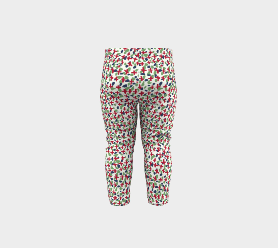 Messy Floral Toddler Leggings preview #5