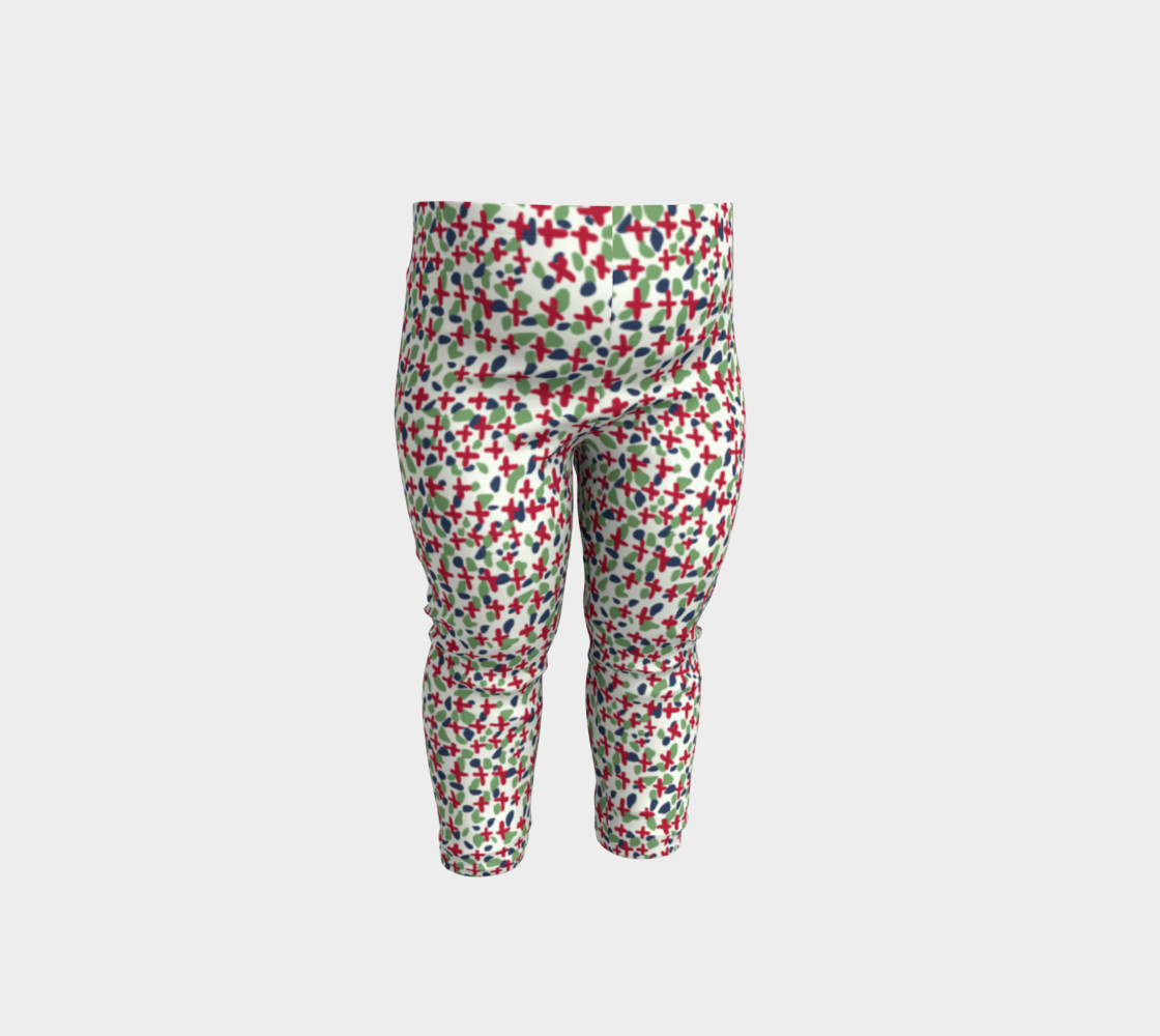 Messy Floral Toddler Leggings preview #1
