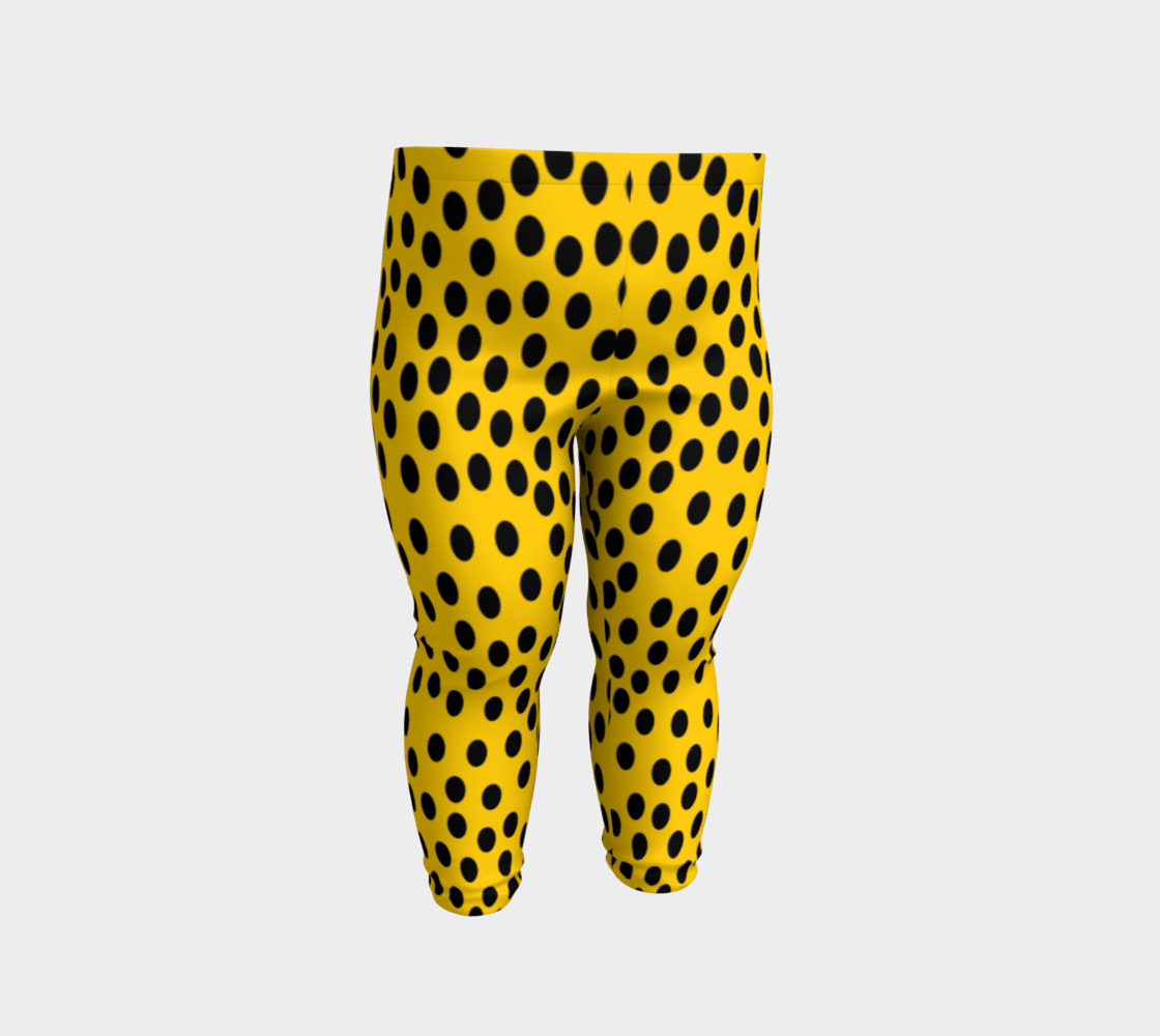 Black Polka Dot Yellow Baby Leggings Baby Leggings By Les Morris Shop Art Of Where