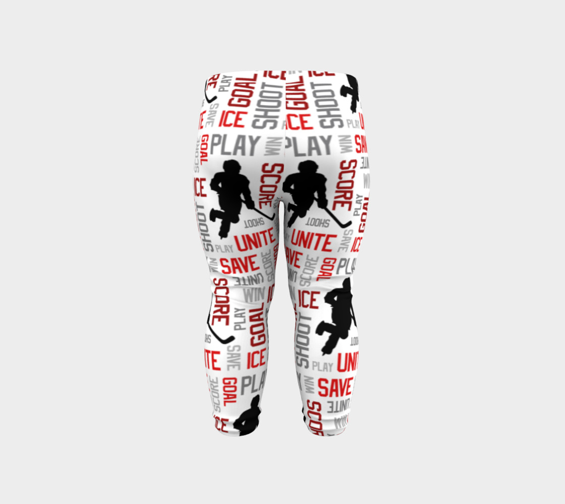 For the Love of Hockey - Red Baby Leggings preview #6