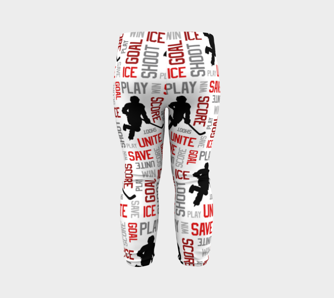 For the Love of Hockey - Red Baby Leggings preview #7