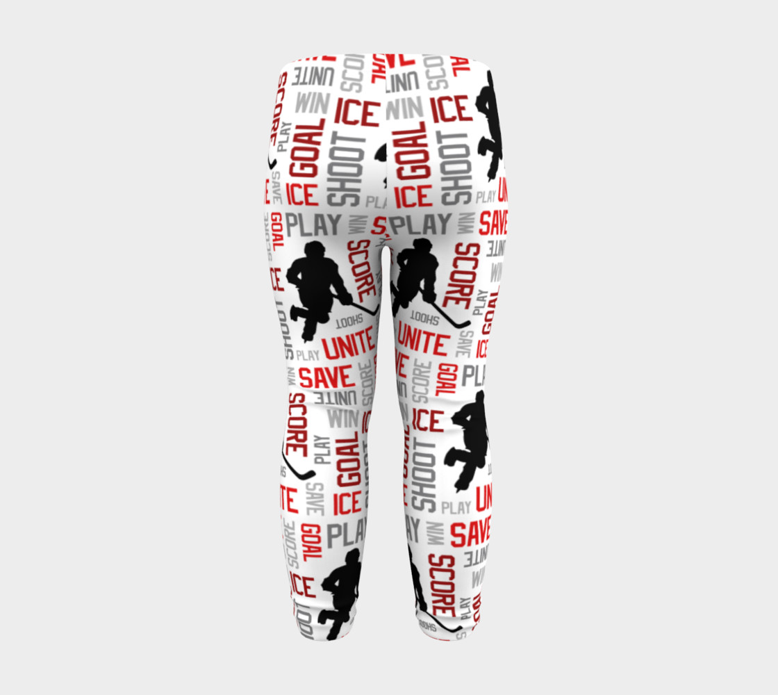 For the Love of Hockey - Red Baby Leggings preview #8