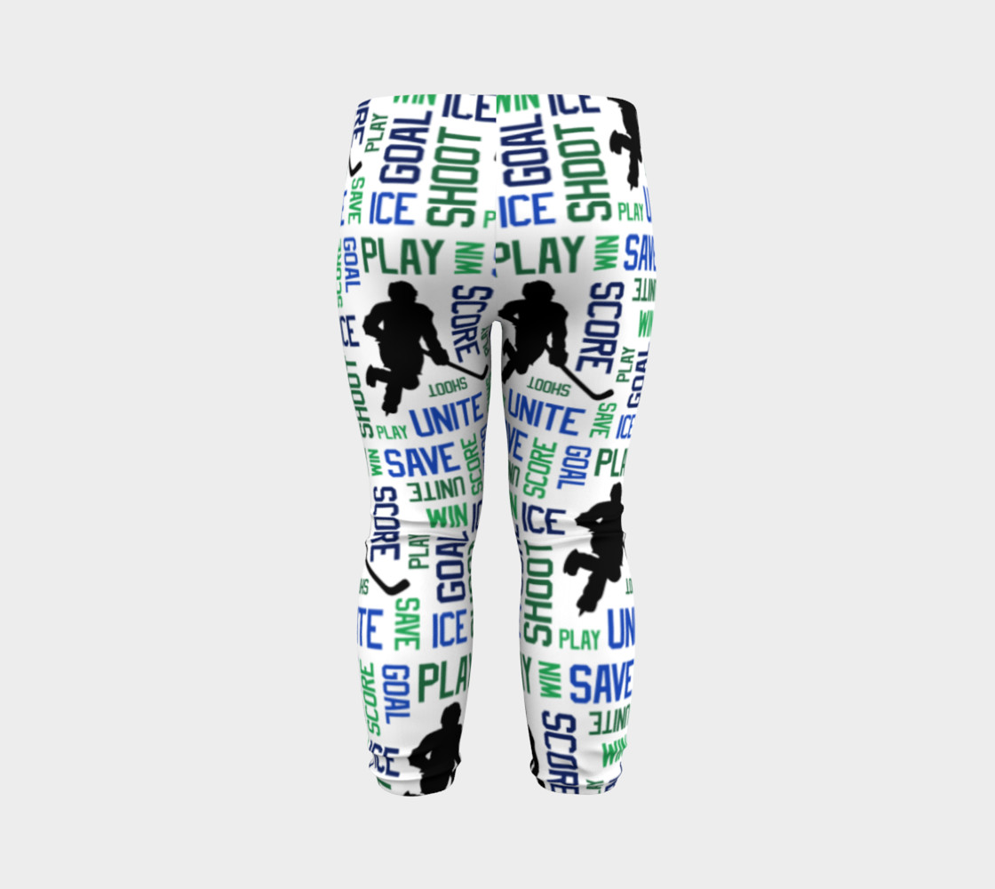 For the Love of Hockey - Blue and Green Baby Leggings preview #7