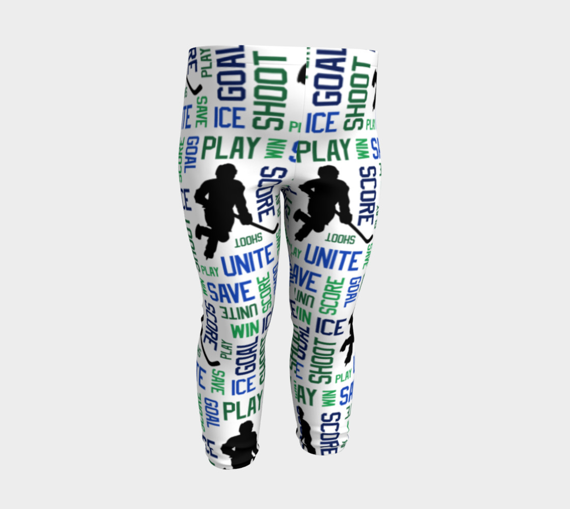 For the Love of Hockey - Blue and Green Baby Leggings preview #3
