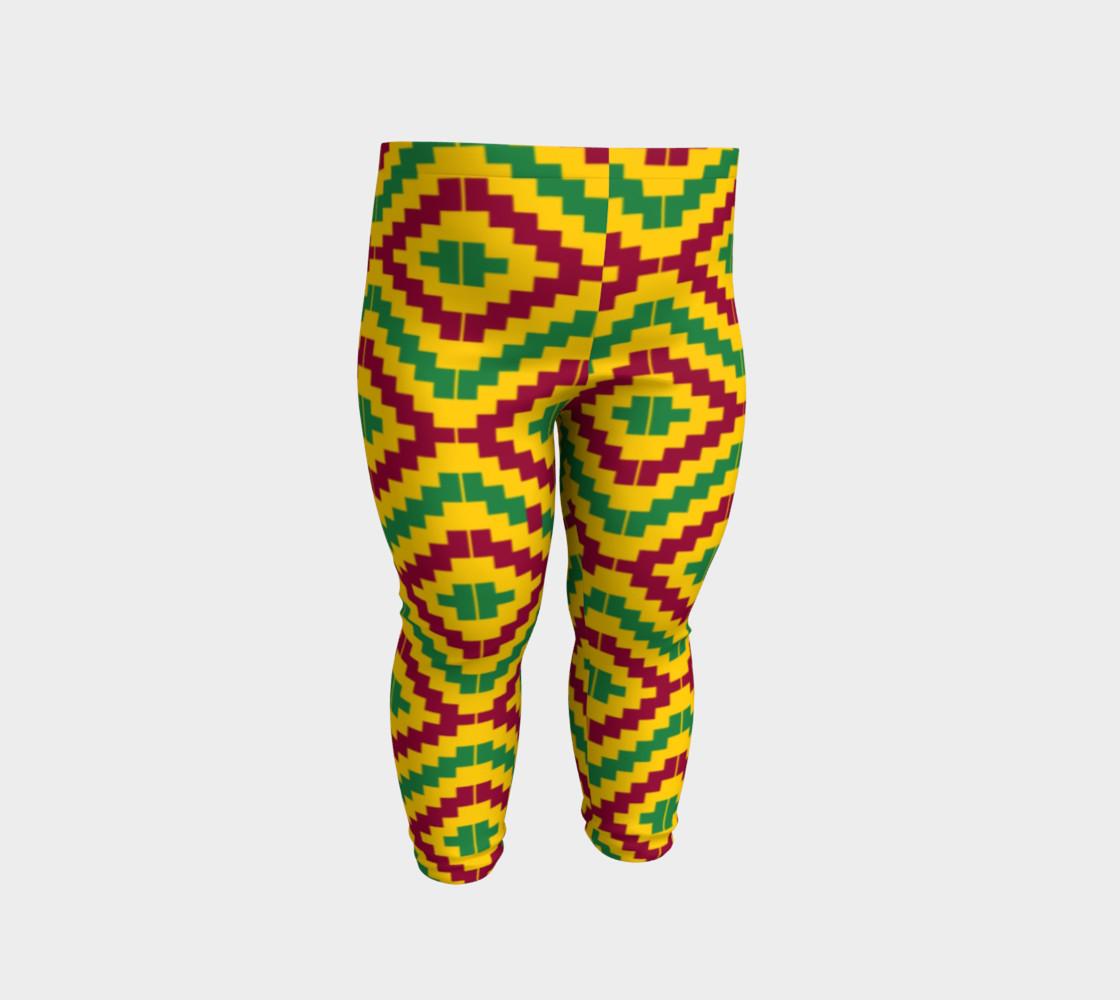 Aperçu de African Kente Print Baby Leggings #2