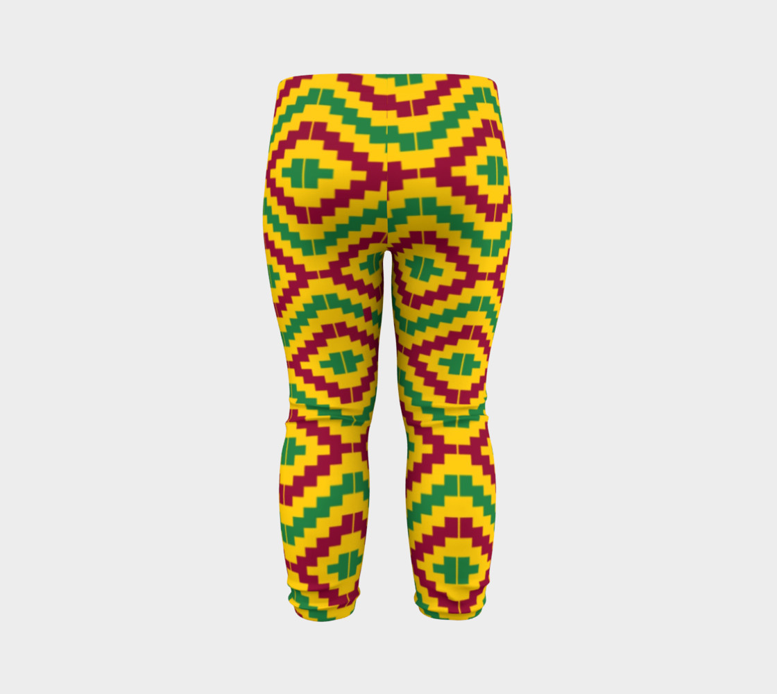 Aperçu de African Kente Print Baby Leggings #7