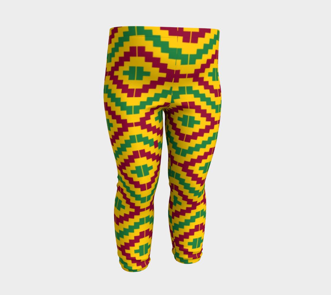 Aperçu de African Kente Print Baby Leggings #3