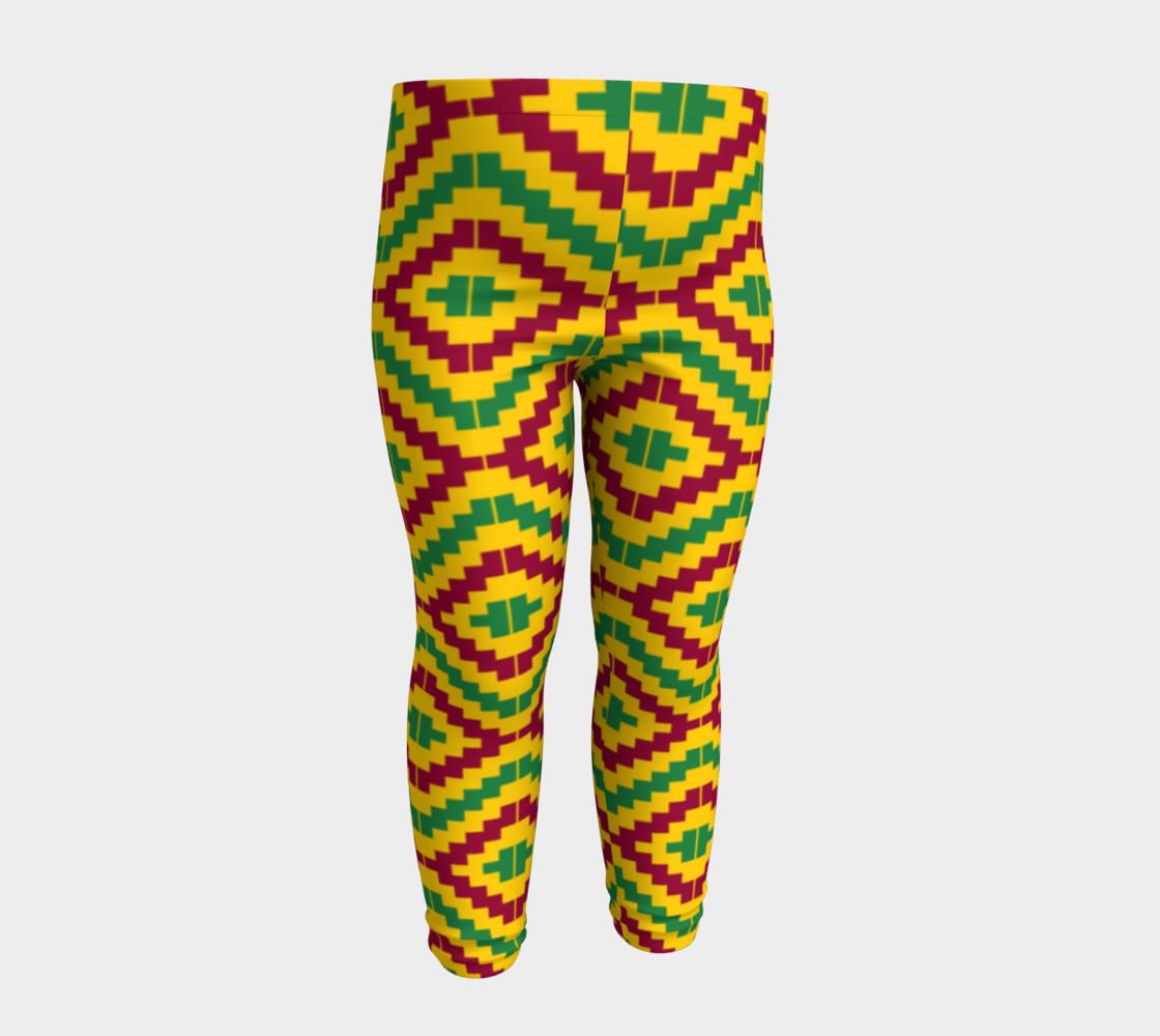 Aperçu de African Kente Print Baby Leggings #4
