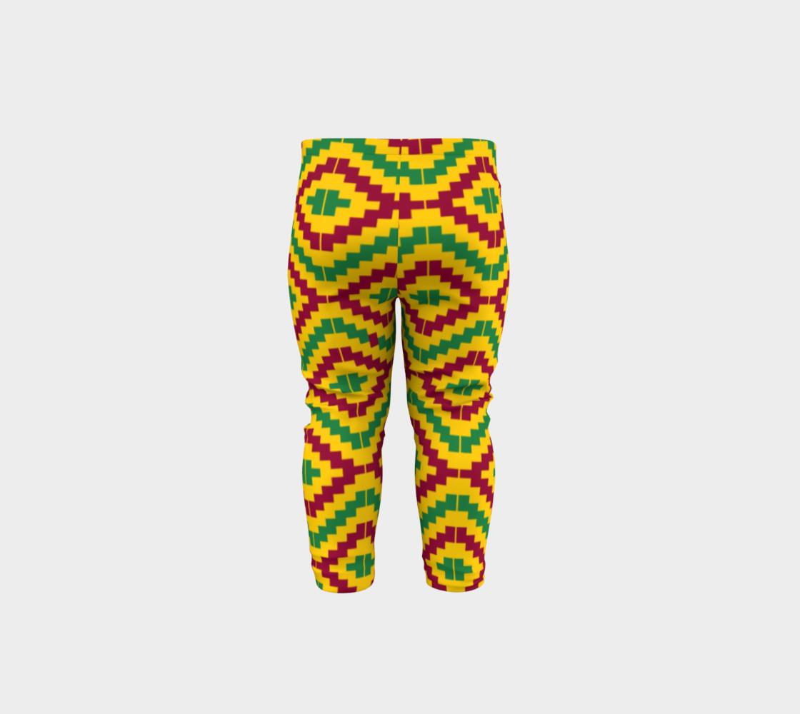 Aperçu de African Kente Print Baby Leggings #5