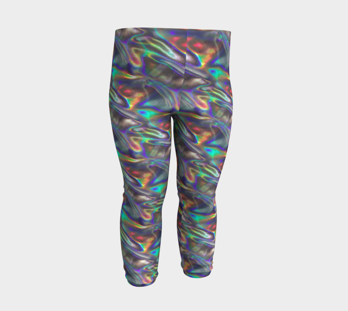 holographic silver metallic baby leggings Miniature #4