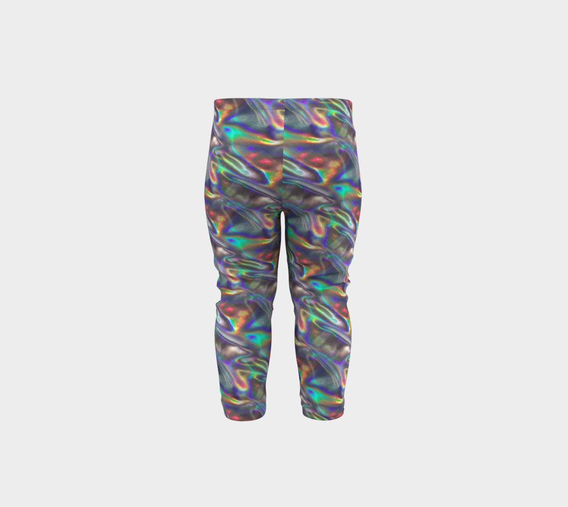 holographic silver metallic baby leggings Miniature #6