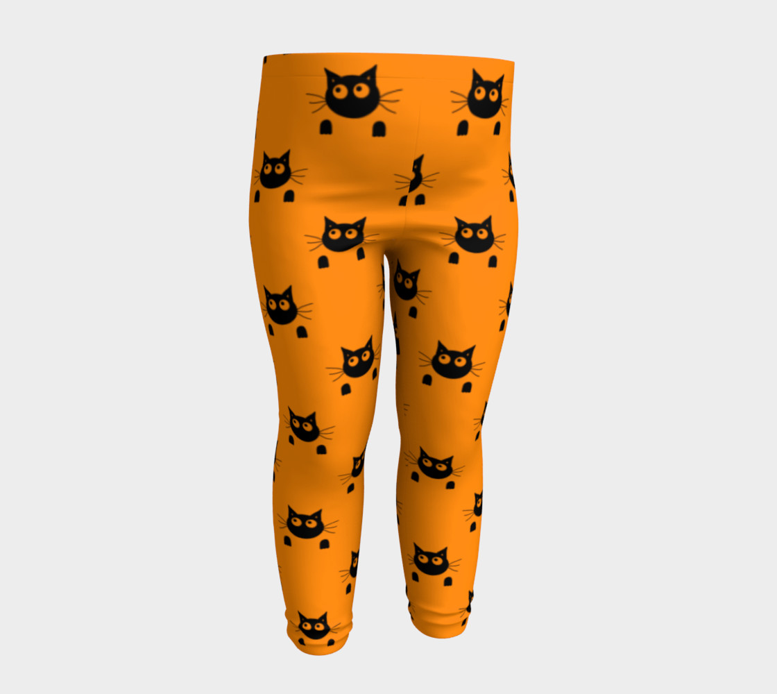 Halloween Cat Baby Leggings preview #4