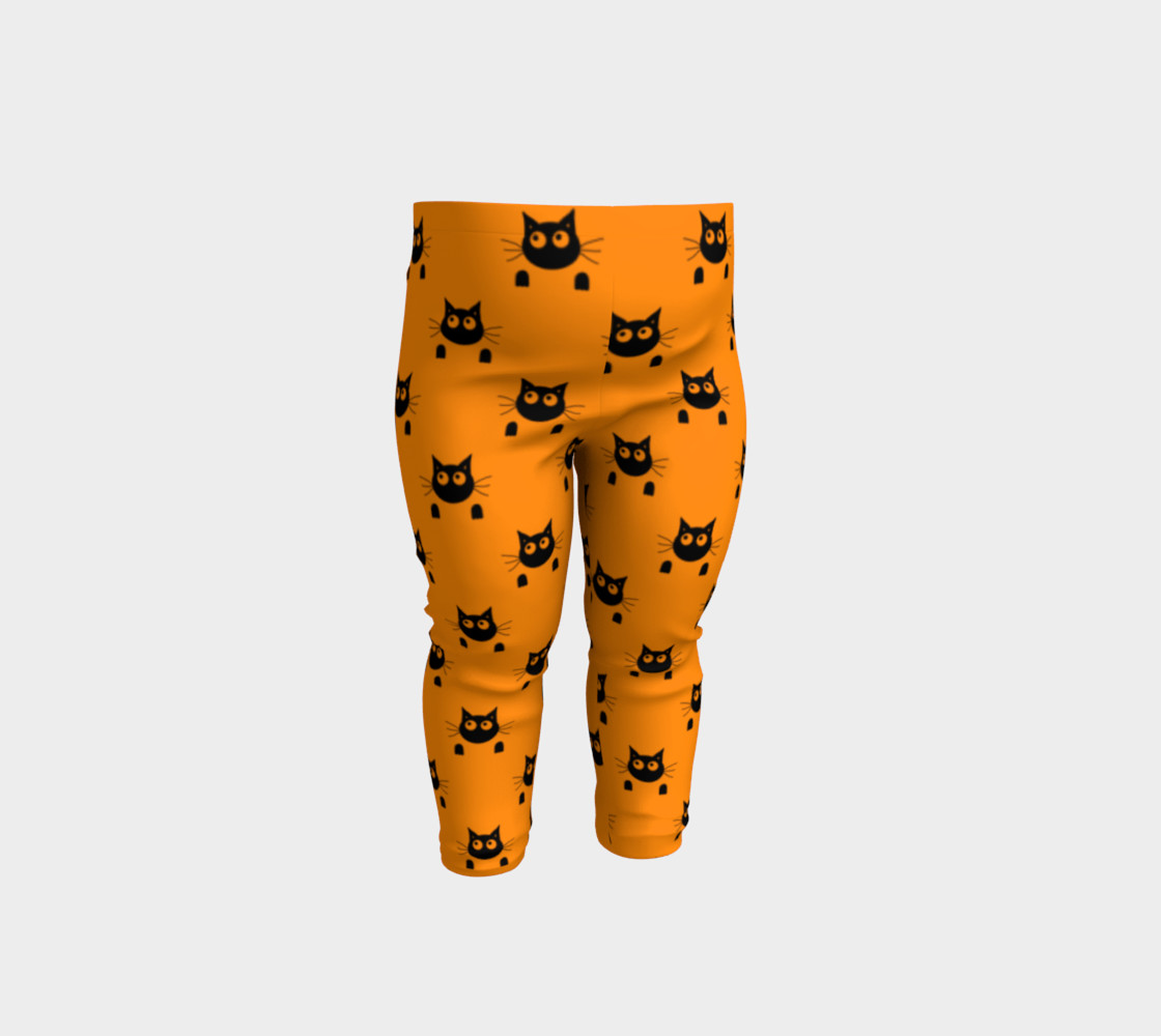 Halloween Cat Baby Leggings 3D preview