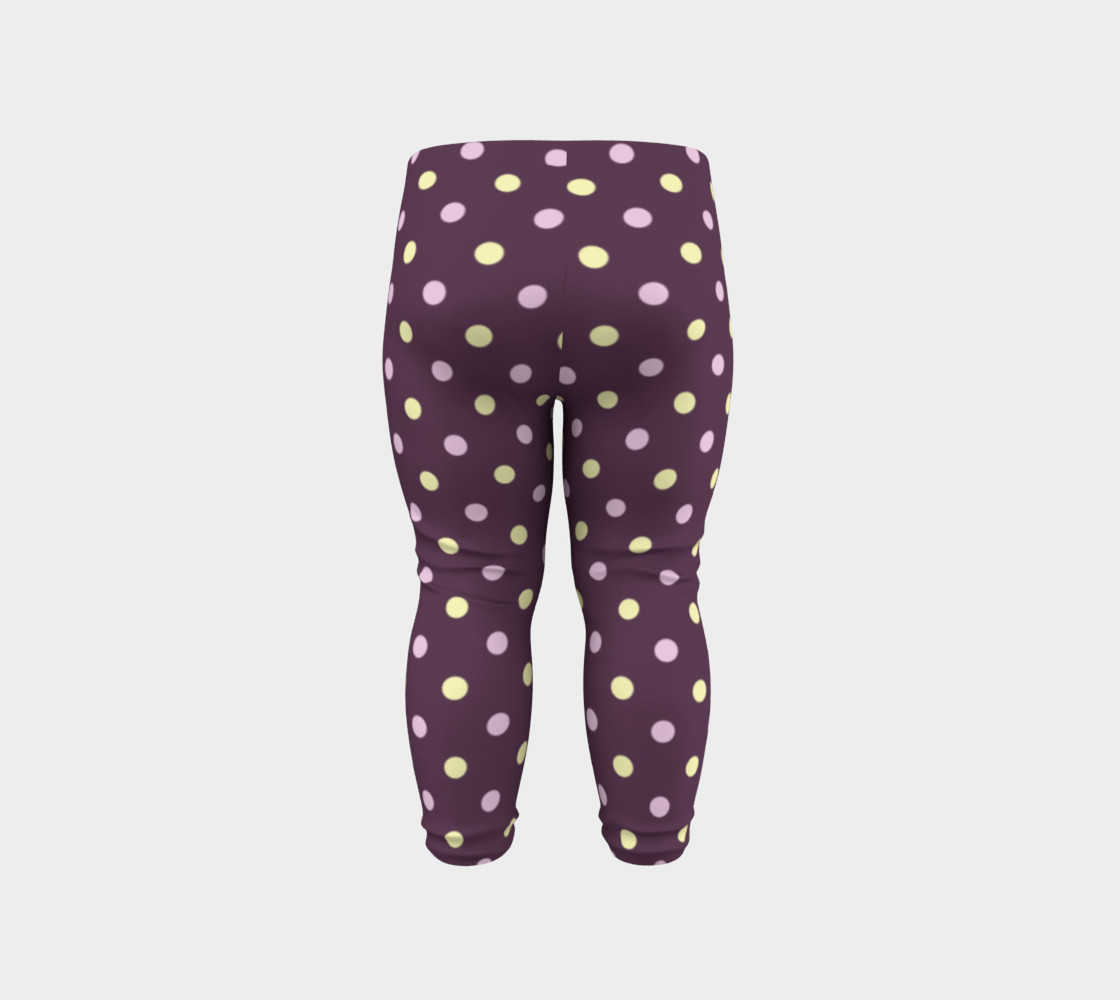 Purple Polka Dots Baby Leggings preview #6