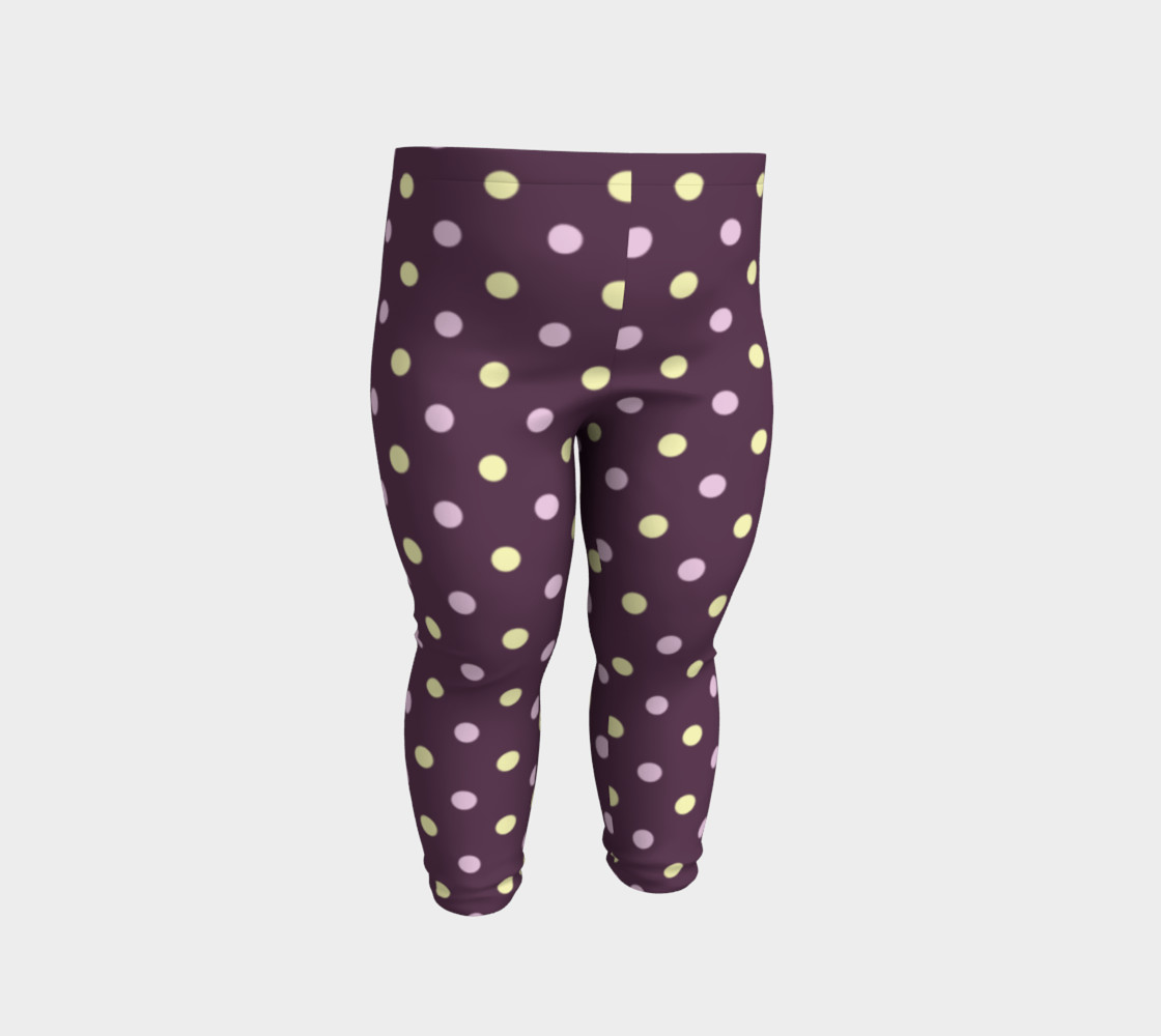 Purple Polka Dots Baby Leggings preview #2