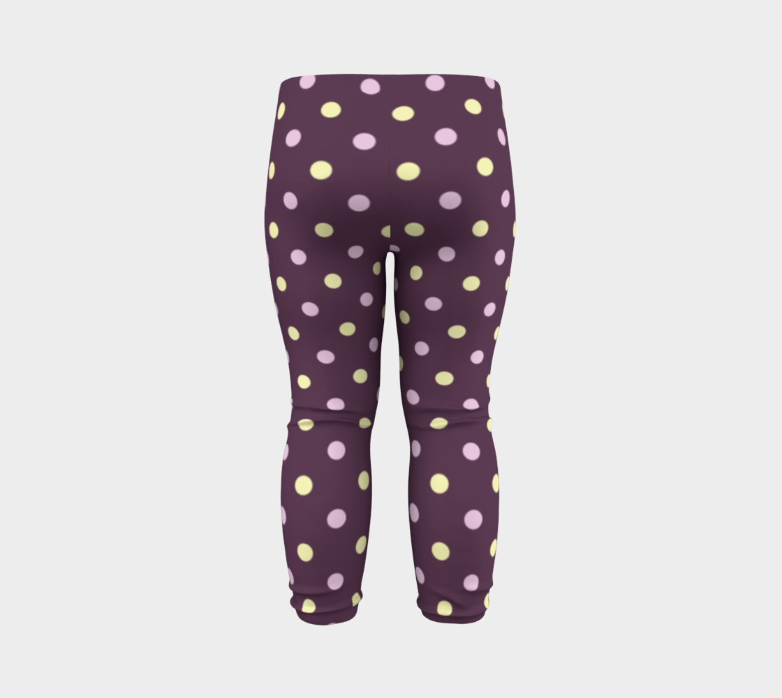 Purple Polka Dots Baby Leggings preview #7