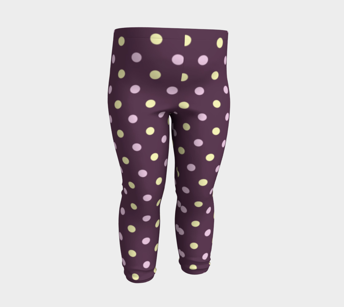 Purple Polka Dots Baby Leggings preview #3
