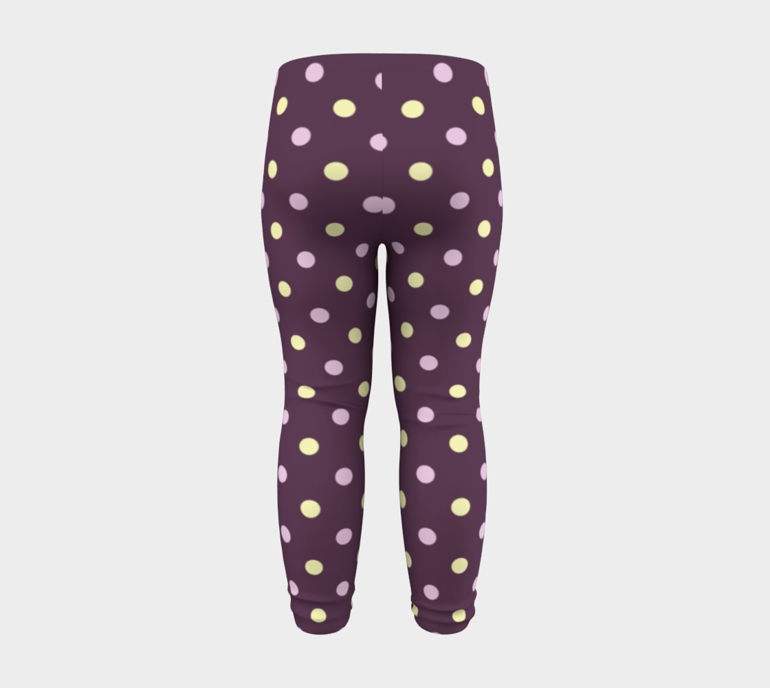 Purple Polka Dots Baby Leggings preview #8