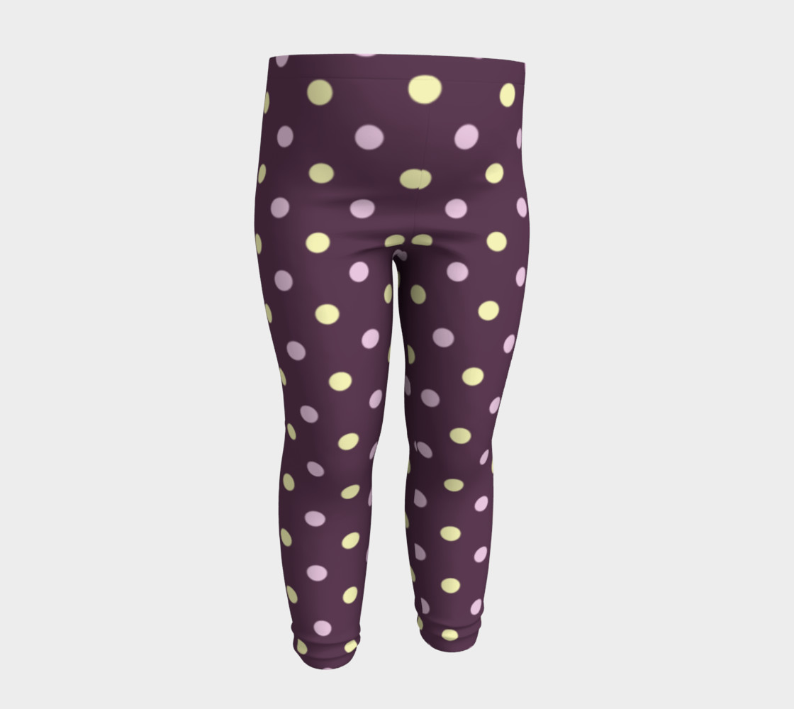 Purple Polka Dots Baby Leggings preview #4