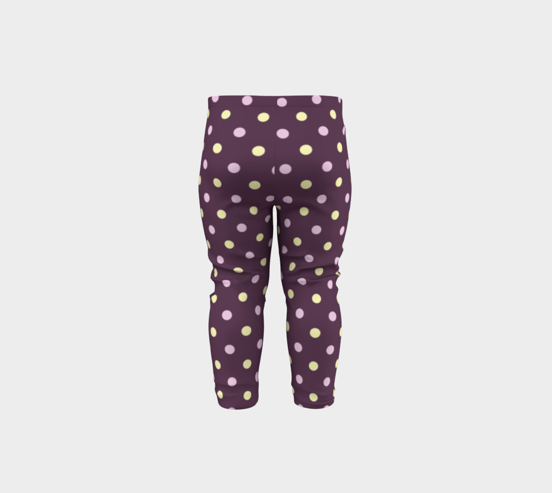 Purple Polka Dots Baby Leggings preview #5