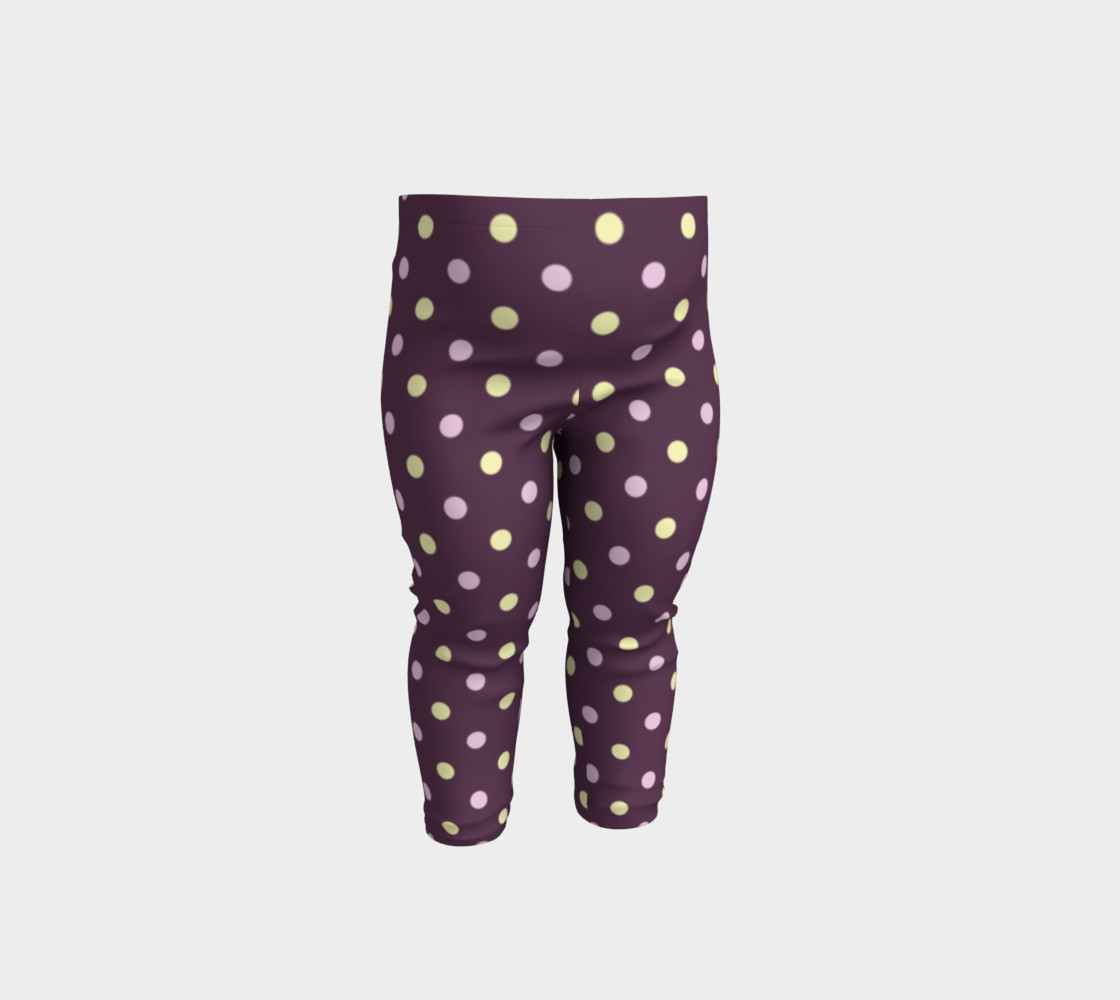 Purple Polka Dots Baby Leggings preview #1