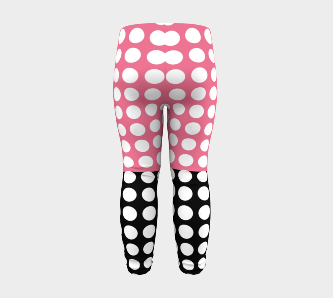 Aperçu de Pink and Black with white dots #8