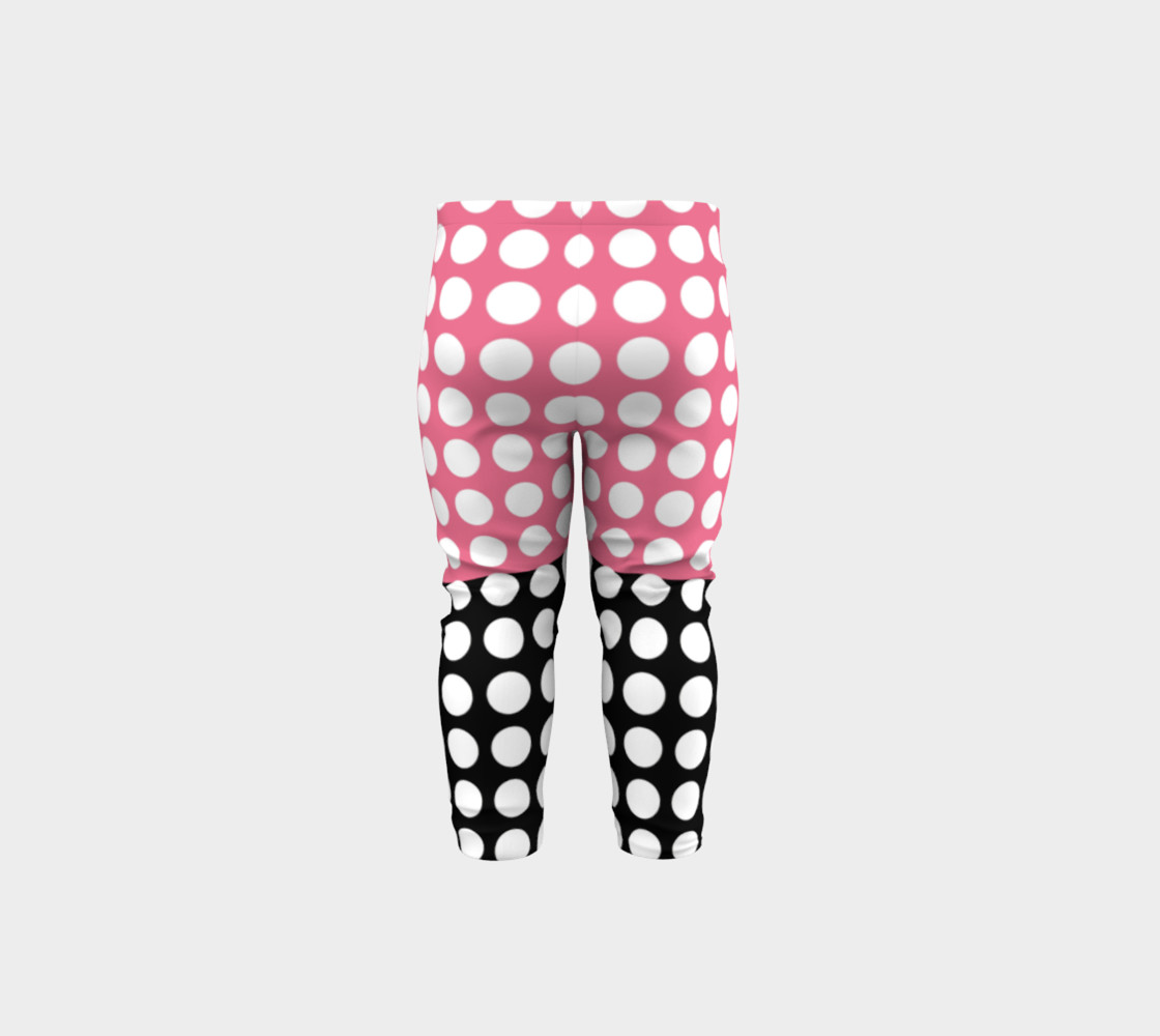 Aperçu de Pink and Black with white dots #5