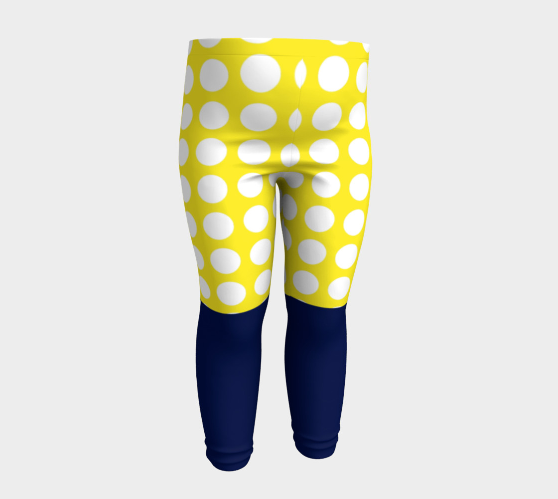 Aperçu de Blue and yellow with white dots #4