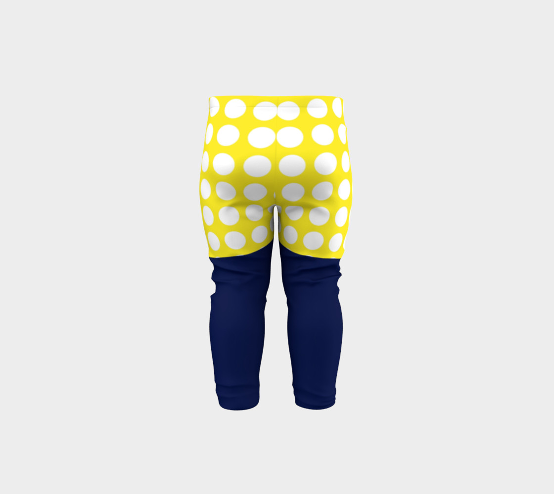 Aperçu de Blue and yellow with white dots #5
