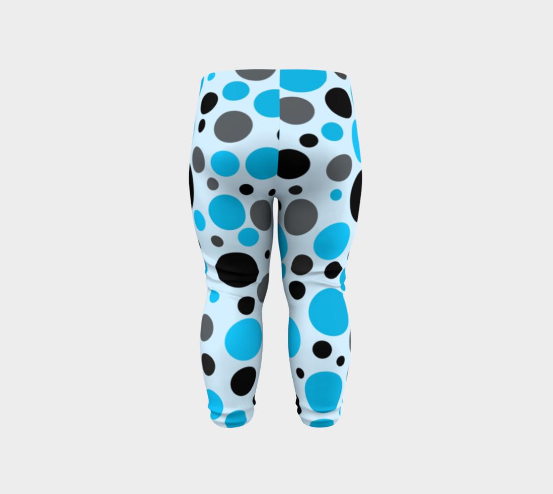 Aperçu de Black blue and gray polka dots #6