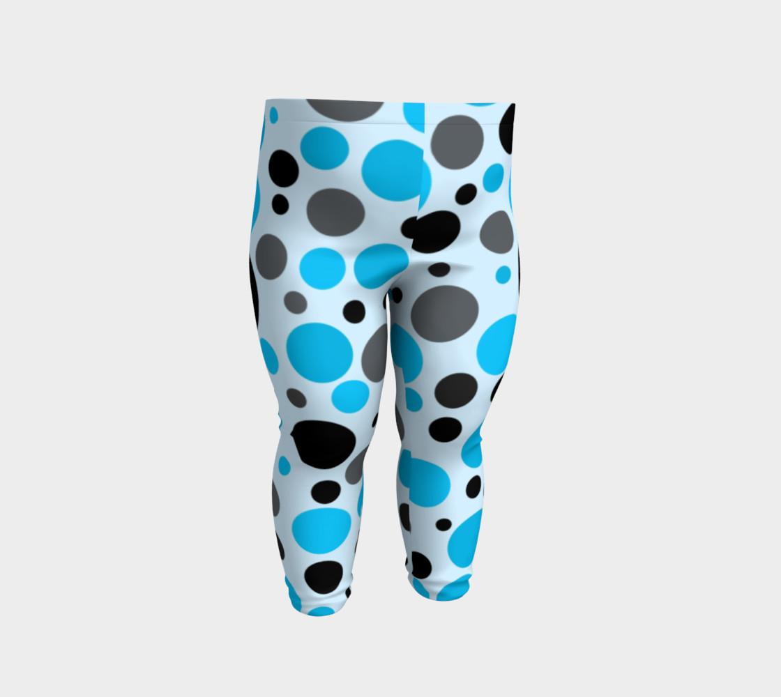 Aperçu de Black blue and gray polka dots #2
