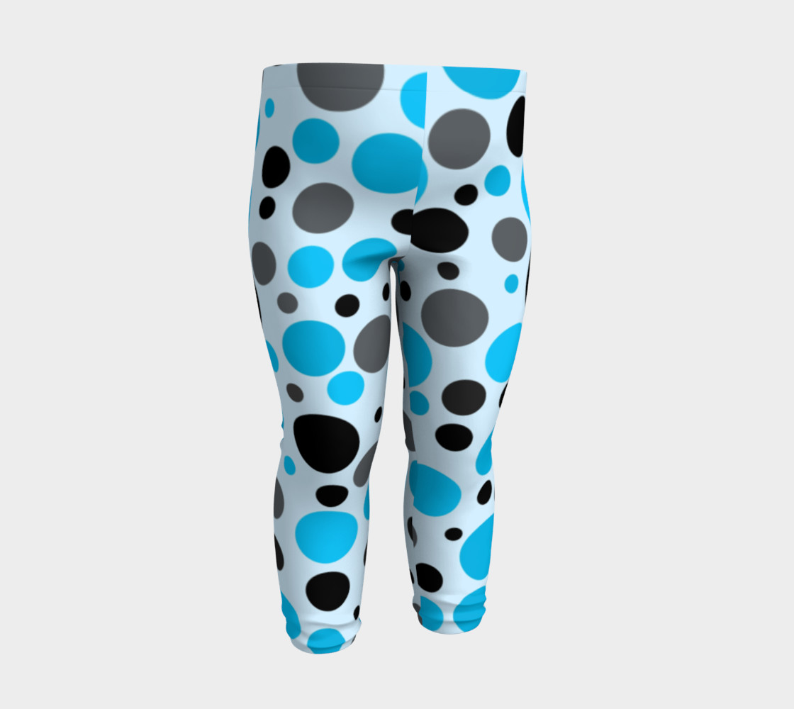 Aperçu de Black blue and gray polka dots #3