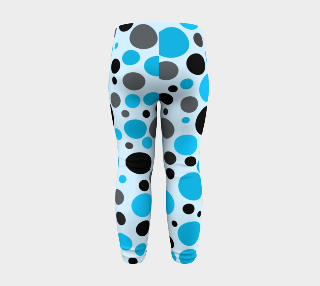 Aperçu de Black blue and gray polka dots #8