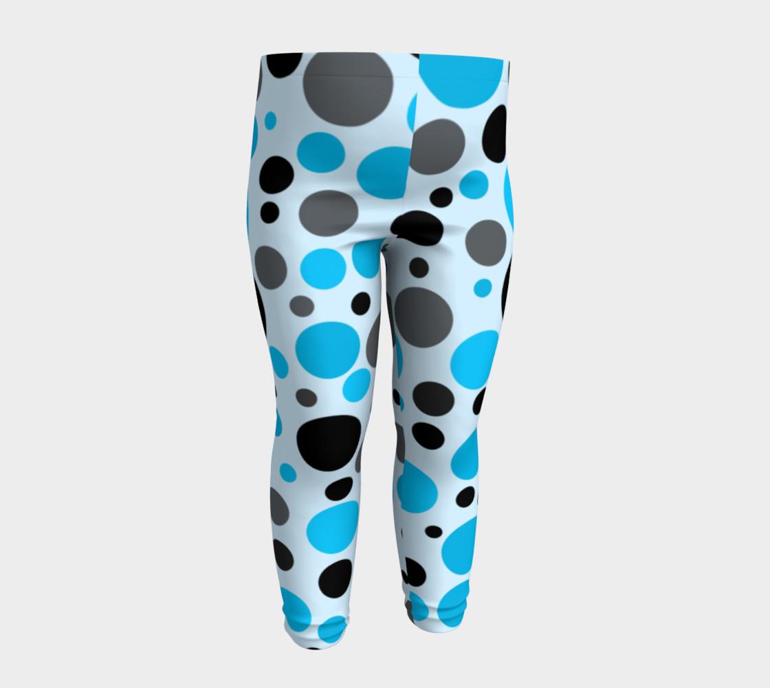Aperçu de Black blue and gray polka dots #4