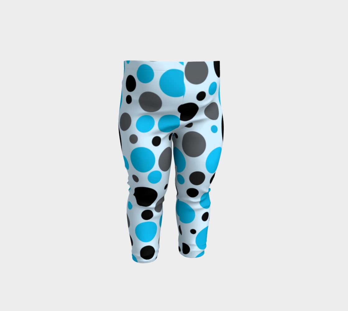 Aperçu de Black blue and gray polka dots #1
