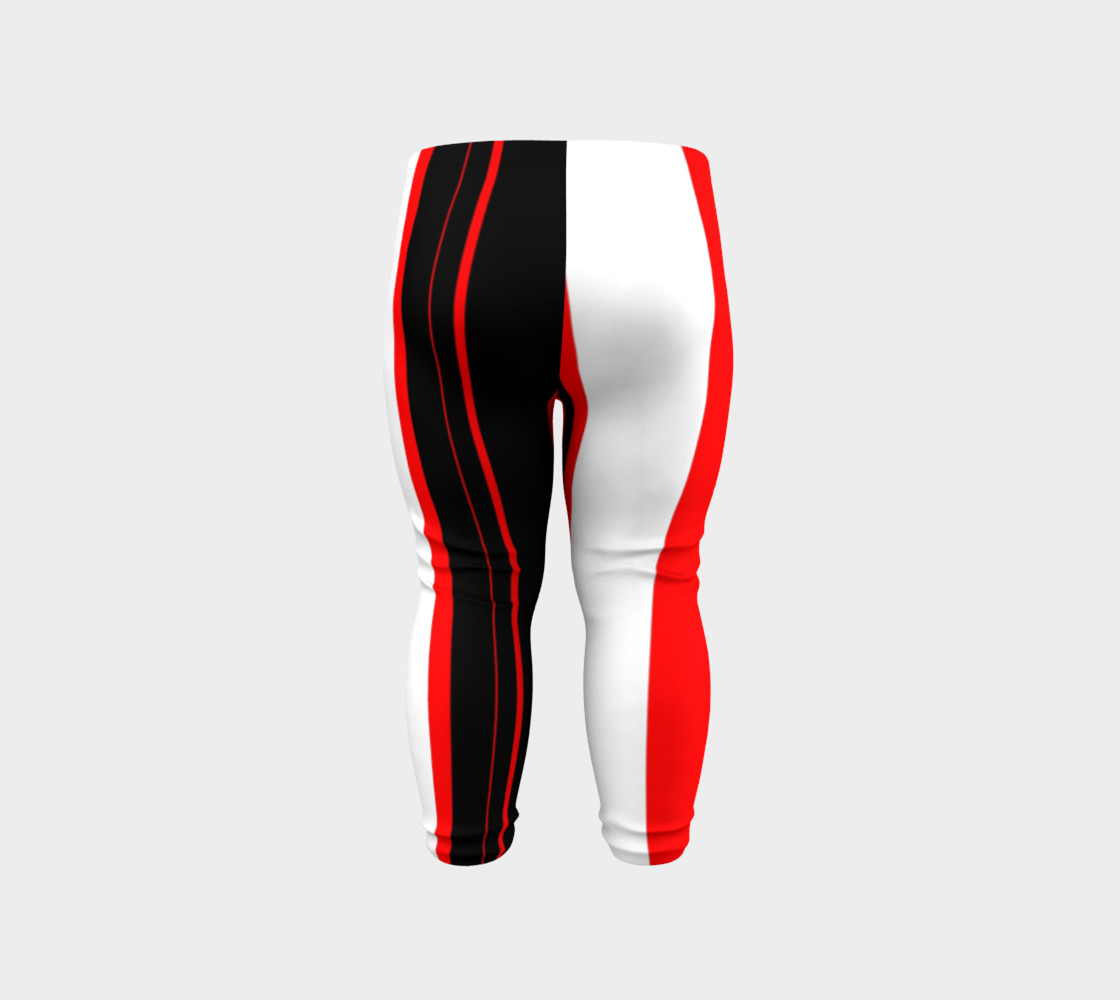 Aperçu de Black red and white stripes #6