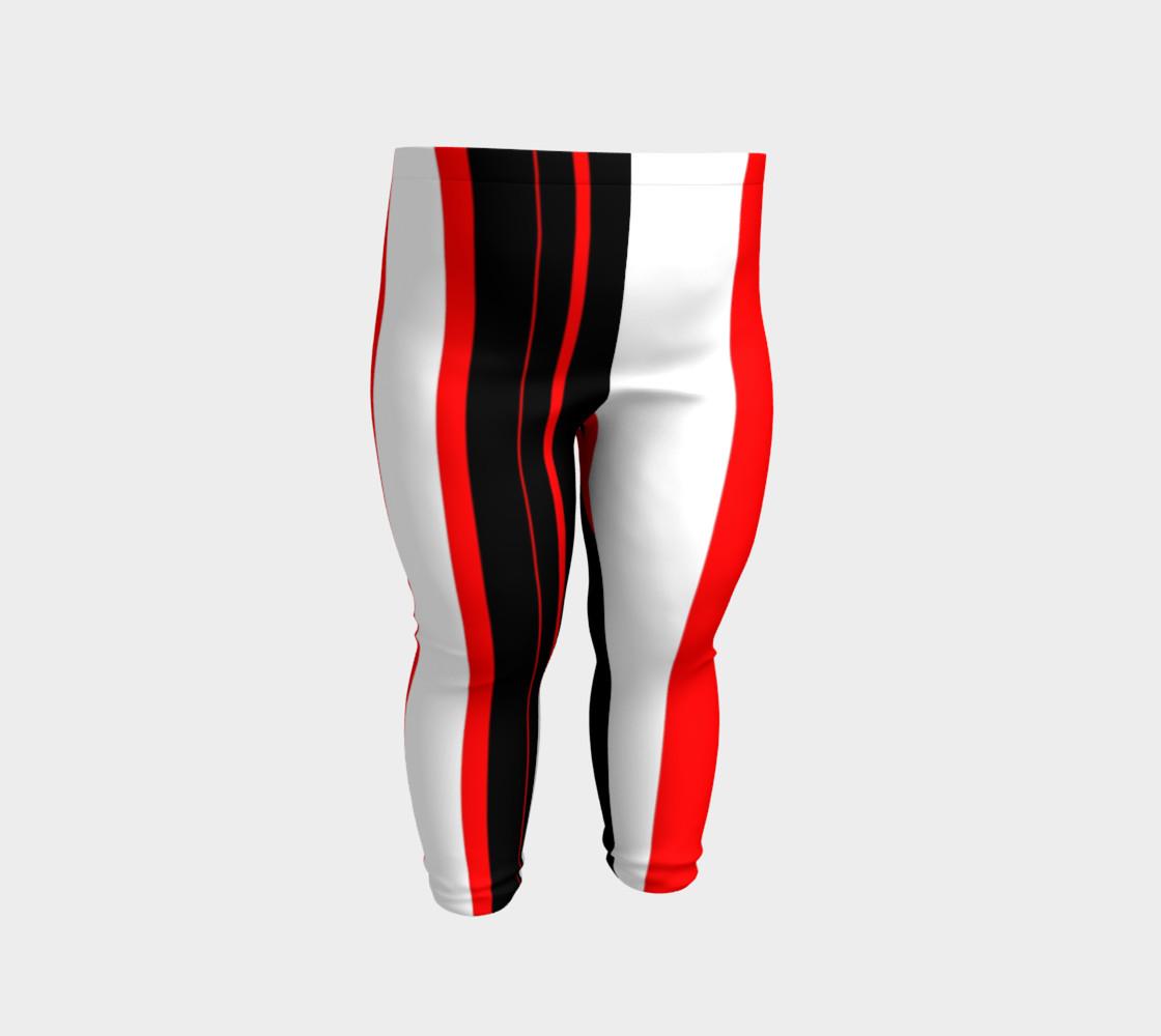 Aperçu de Black red and white stripes #2