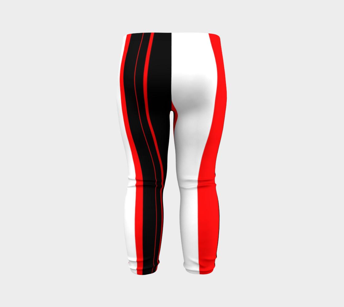 Aperçu de Black red and white stripes #7