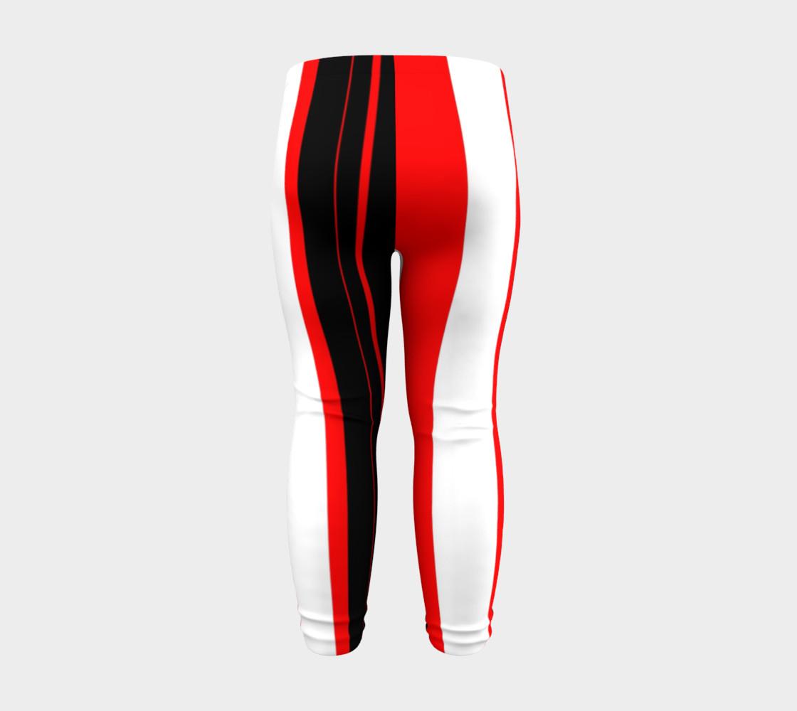 Aperçu de Black red and white stripes #8