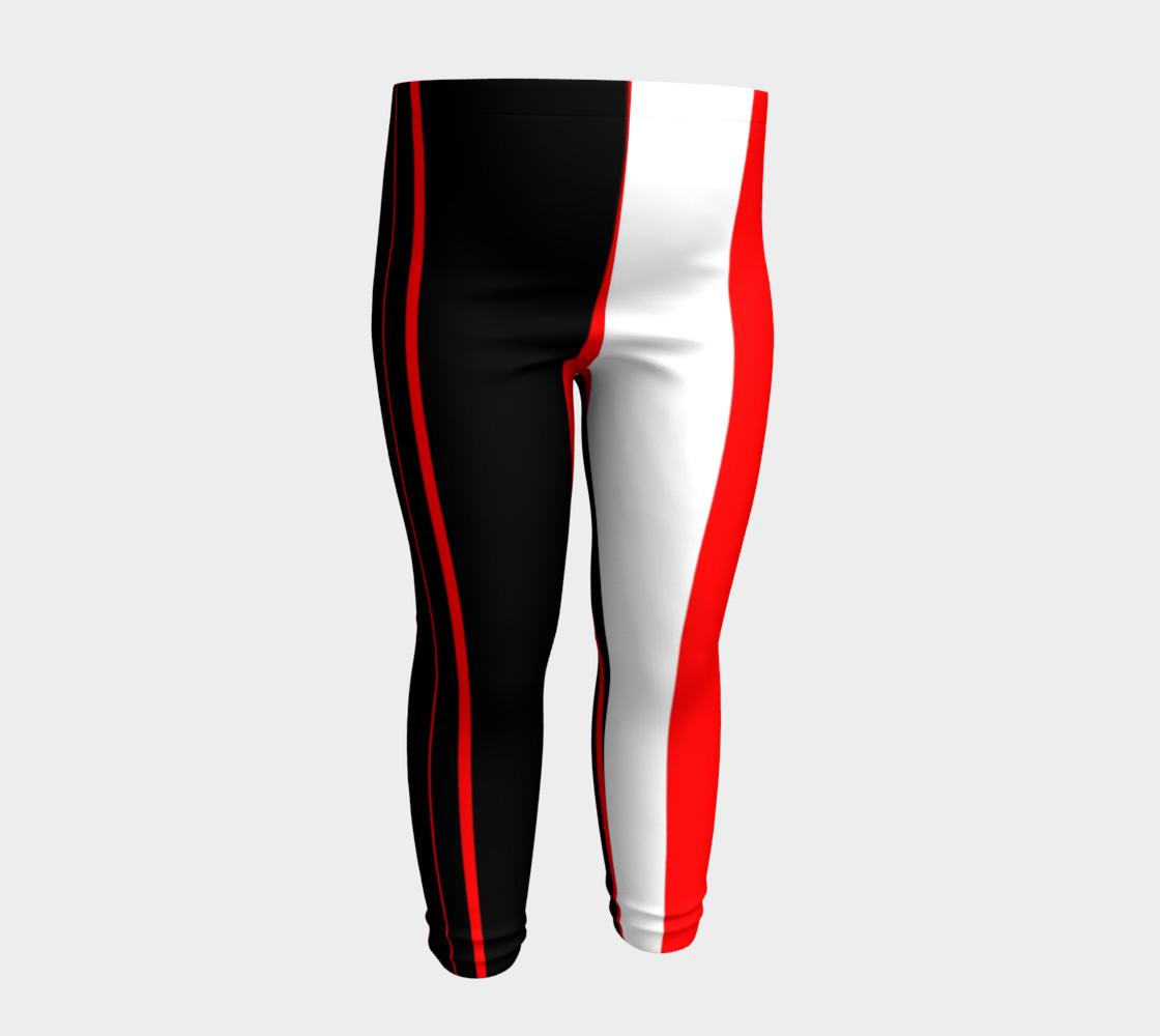 Aperçu de Black red and white stripes #4