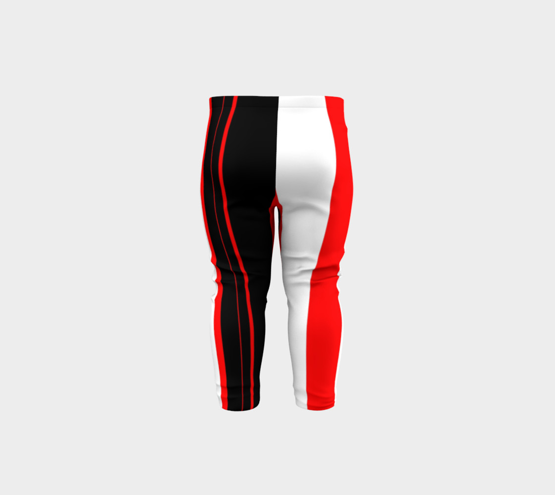 Aperçu de Black red and white stripes #5
