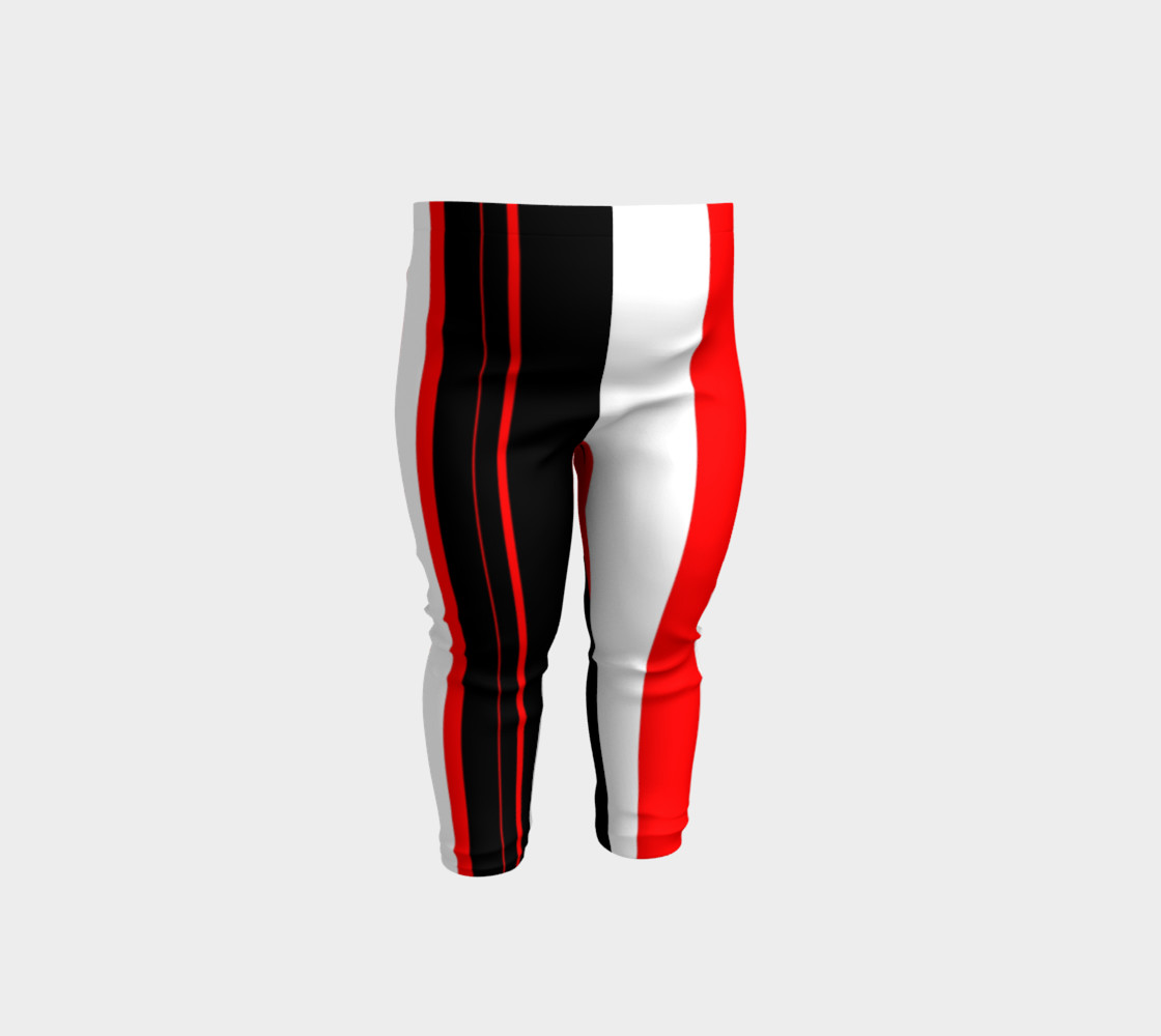 Aperçu de Black red and white stripes #1