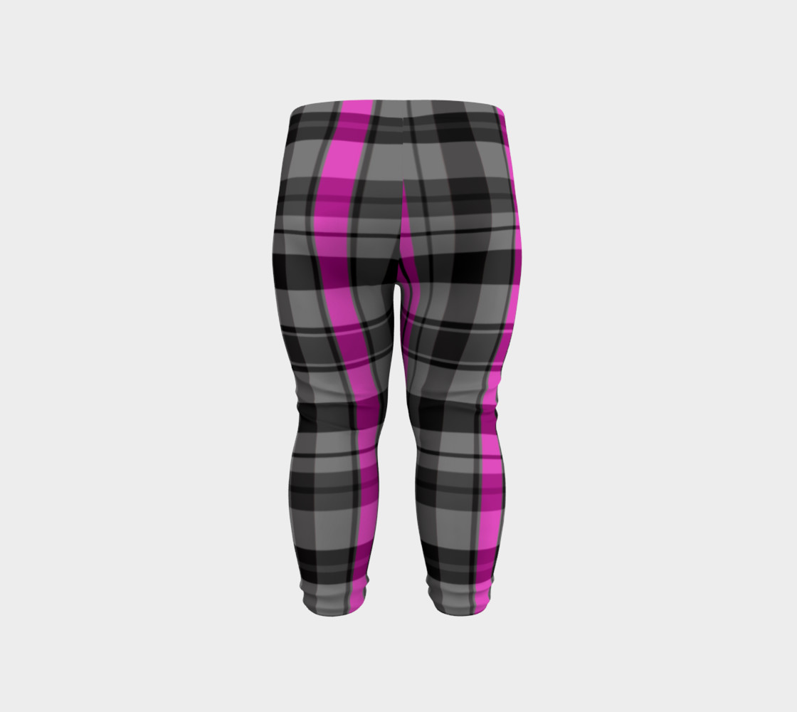 Pink black and gray plaid Miniature #7