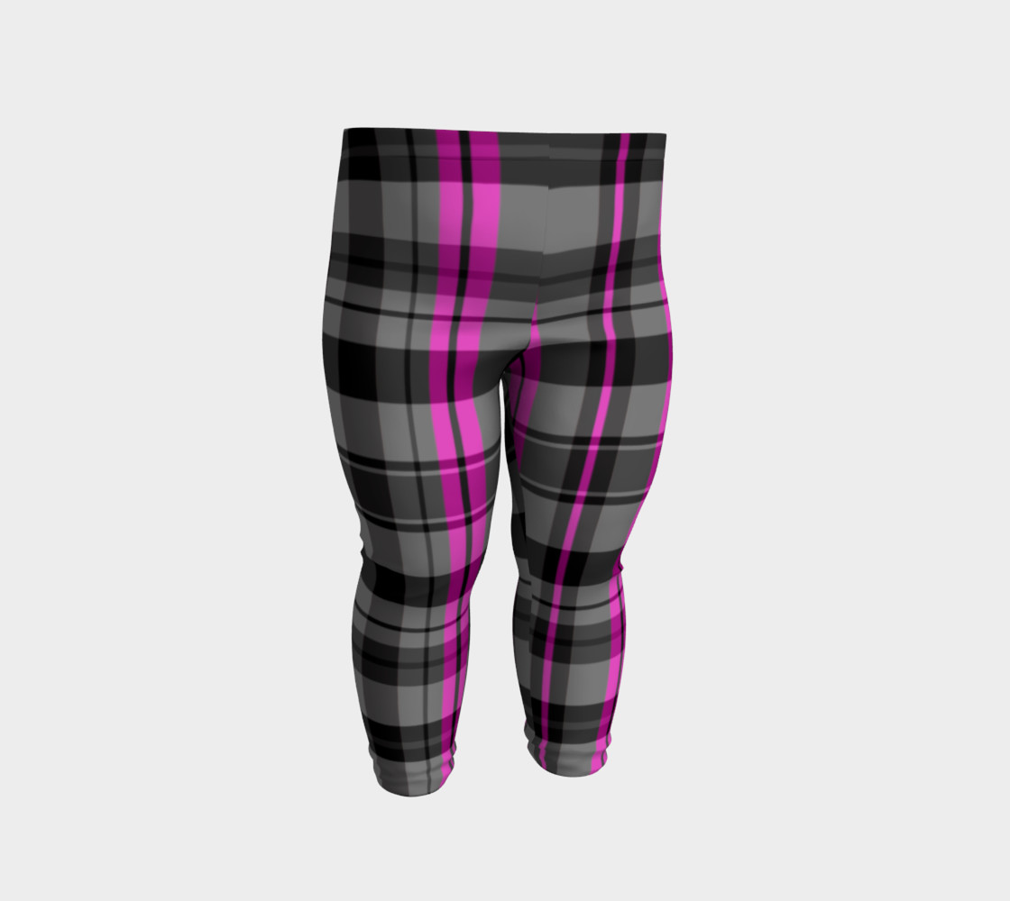 Pink black and gray plaid Miniature #3