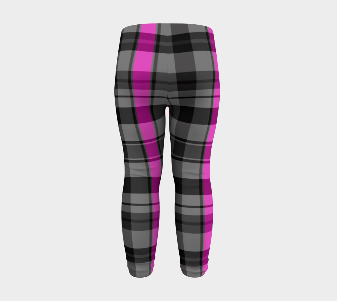 Pink black and gray plaid Miniature #9