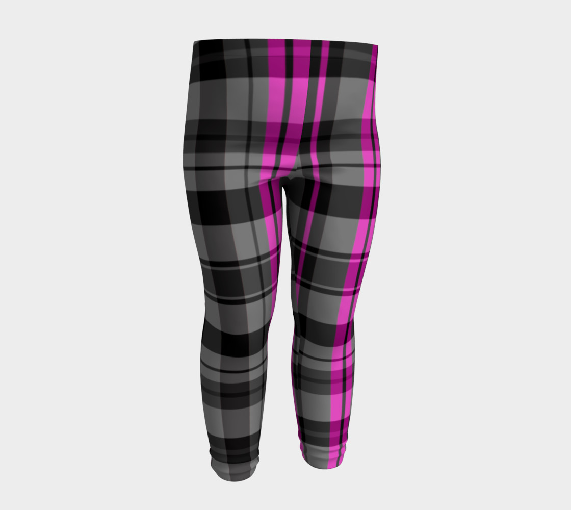 Pink black and gray plaid Miniature #5