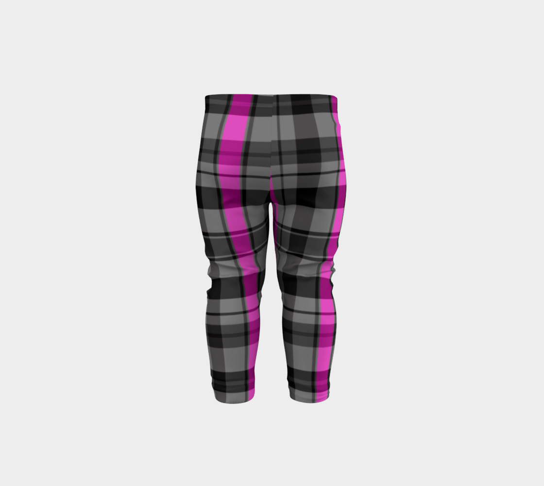 Pink black and gray plaid Miniature #6