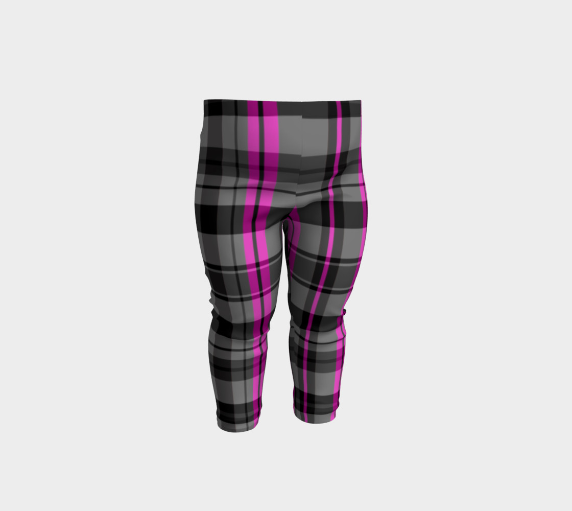 Pink black and gray plaid Miniature #2