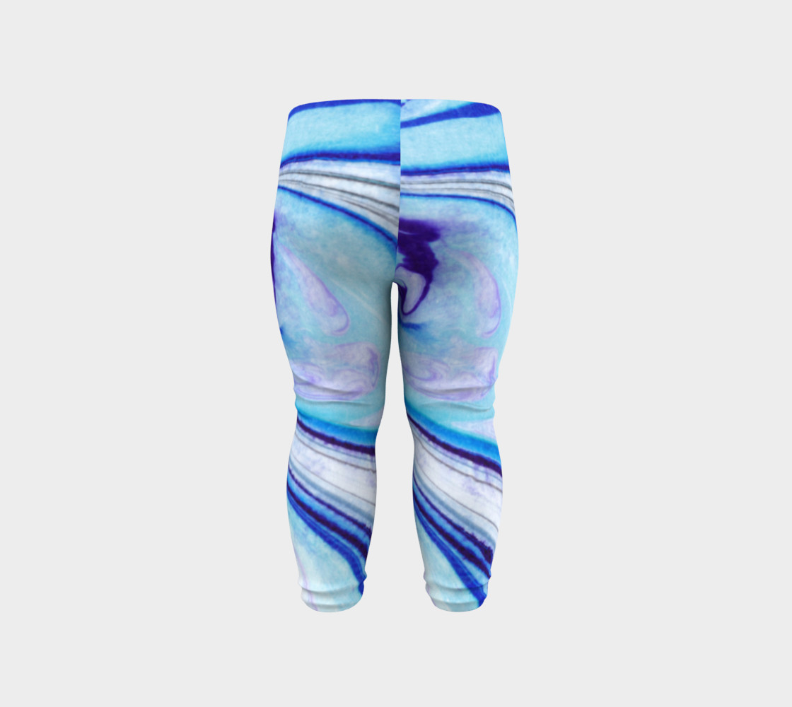 Blue Marble Abstract Pattern - Baby Leggings preview #6