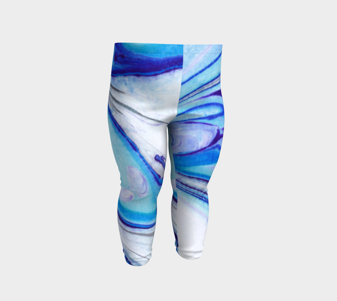 Blue Marble Abstract Pattern - Baby Leggings preview #2